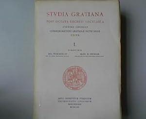 Studia Gratiana. Post Octava decreti Saecularia. Auctore Consilio Commemorationi Gratianae ...