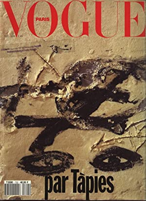 VOGUE, Paris, Dec. 91 - Jan. 92. Par Tapies.