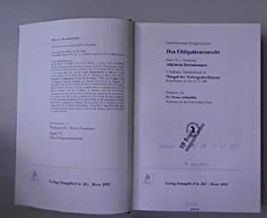 Das Obligationenrecht, Band VI, 1. Abteilung: Allgemeine Bestimmungen ; 2. Teilband, Unterteilband ...