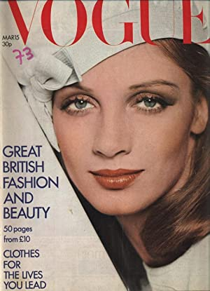 VOGUE, GB, March 1973. Great british fashion and beauty.