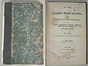 Die Rechte der Israeliten, Athener und Römer. 1. Band (von 3): Das öffentliche Recht. Mit...