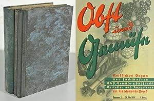 OBST UND GEMÜSE, 1. Jahrgang (1937) + Beilagen. 3 Bände. Amtliches Organ der Fachschaften...