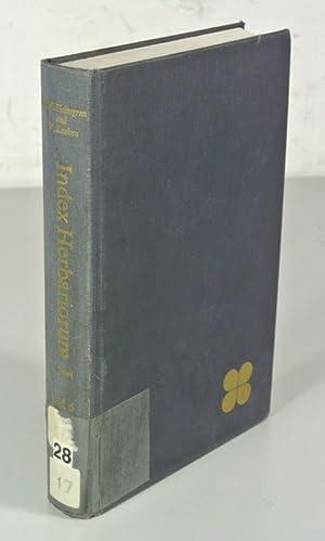 THE HERBARIA OF THE WORLD. (Index Herbariorum.: Stafleu, F.A. [ed.]: