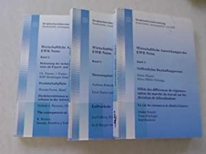 Wirtschaftliche Auswirkungen des EWR-Neins Band 1, Band 2 und Band 3. Band 1: Strassengü...