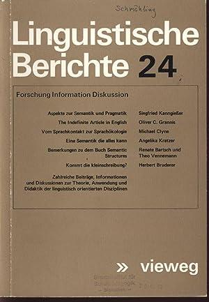 Aspekte zur Semantik und Pragmatik, in: LINGUISTISCHE