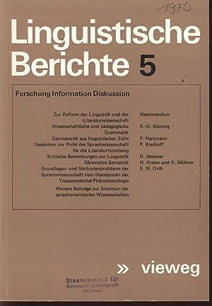 Generative Semantik, in: LINGUISTISCHE BERICHTE, 5/1970.