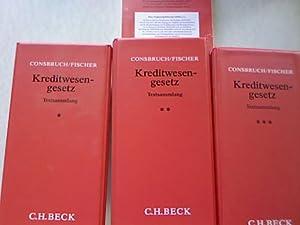 Kreditwesengesetz Textsammlung Band 1 bis Band 3 bis einschl. 96. Ergänzungslieferung August ...