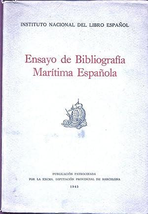 Ensayo de Bibliografia Maritima Espanola.: Instituto Nacional del Libro Espanol: