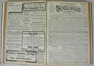 VOLKSBLATT. SOZIALDEMOKRATISCHES ORGAN. Tageszeitung Sachsen Anhalt, 11. Jahrgang (1900), 75 ...