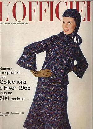 L'OFFICIEL, No. 509-510, Septembre 1964. Deux-pieces de