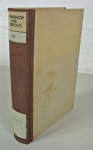 Handbuch der Neurologie, 4. Band. HIRNNERVEN, PUPILLE. Bearbeitet von A. Bielschowsky, P.A. Jaensch...
