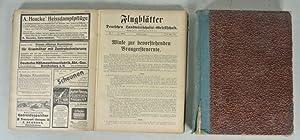 MITTEILUNGEN DER DEUTSCHEN LANDWIRTSCHAFTS-GESELLSCHAFT, 2 Jahrgänge: 24 (1909) und 26 (1911)....