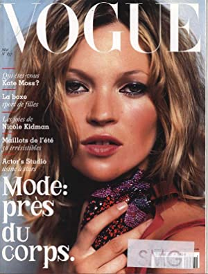 VOGUE, Paris, Mai 2003. Qui etes-vous Kate Moss?