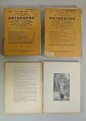 ANTHROPOS, Internationale Zeitschrift für Völker- und Sprachenkunde, Band XXX (1925). 6 ...