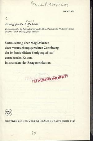 Untersuchung über Möglichkeiten einer verursachungsgerechten Zuordnung der im ...
