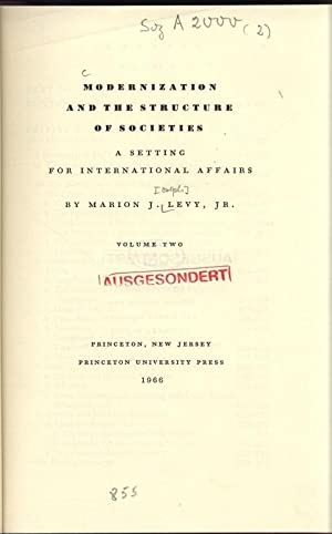 Modernization and the structure of societies. Asetting: MARION.J, Levy: