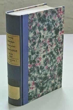 Katalog der Bibliothek der Korporation der Kaufmannschaft von Berlin. Bestand vom 1. August 1909. +...