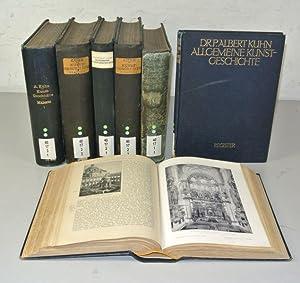 ALLGEMEINE KUNSTGESCHICHTE MIT AESTHETISCHER VORSCHULE, 3 Bände in 6 Halbbänden + ...