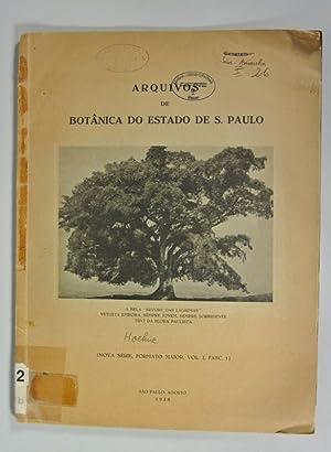 Arquivos de Botanica do Estado de S. Paulo, Nova Serie, Formato Maior, Vol. I, Fasc. 1. Cinquenta ...
