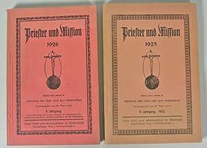 PRIESTER UND MISSION. Jahrbuch der Unio cleri pro missionibus, 2 Jahrgangsbände: 1925 und 1926...