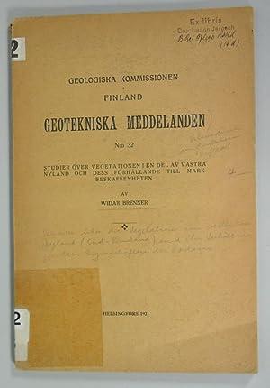 Studier över Vegetationen i en del av Västra Nyland och dess Förhallande till ...