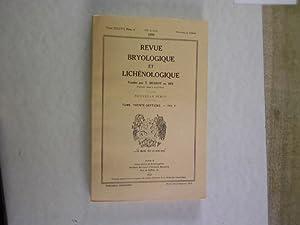 REVUE BRYOLOGIQUE ET LICHENOLOGIQUE, Tome 37, 1970, 93e Annee, Nouvelle Serie, Fasc. 4. (Contains ...