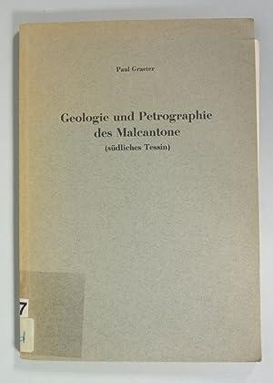GEOLOGIE UND PETROGRAPHIE DES MALCANTONE (SÜDLICHES TESSIN). (Sonderdruck aus: Schweizerische ...