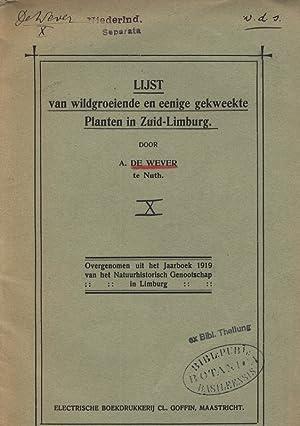 LIJST van wildgroeiende en eenige gekweekte Planten in Zuid-Limburg. IX Overgenomen uit het ...