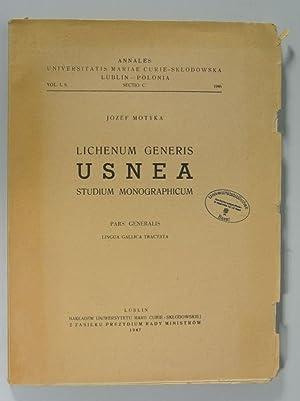 Lichenum Generis Usnea Studium Monographicum, Pars Generalis: Ligua Gallica Tractata. (Annales ...