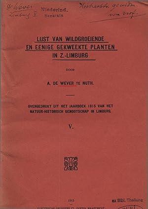 LIJST van wildgroeiende en eenige gekweekte Planten in Zuid-Limburg. V Overgenomen uit het Jaarboek...