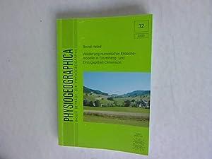 Validierung numerischer Erosionsmodelle in Einzelhang- und Einzugsgebiet-Dimension. ...
