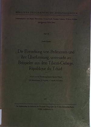Die Entstehung von Pedimenten und ihre Überformung,: Busche, Detlef:
