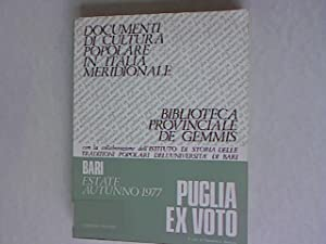 Puglia ex Voto. Bari, Biblioteca Provinciale de: Angiuli, Emanuela: