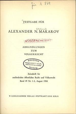 Festgabe Für.: Makarov, Alexander N.: