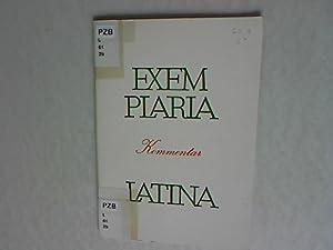 Exem Plaria Latina. Lateinisches Lesebuch zur Einführung in die Schriftstellerlektüre, ...