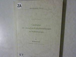 Geschichte der deutschen Kulturbeziehungen zu Südosteuropa, V. Registerband. Südosteurop&...