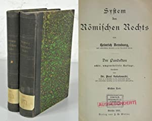 SYSTEM DES RÖMISCHEN RECHTS. 1. und 2. Teil in 2 Bänden (vollständig). Der Pandekten...