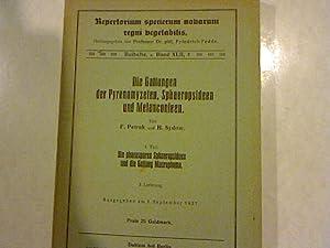 Die Gattungen der Pyrenomyzeten, Sphaeropsideen und Melanconieen Teil 1. 3. Lieferung. Die ...