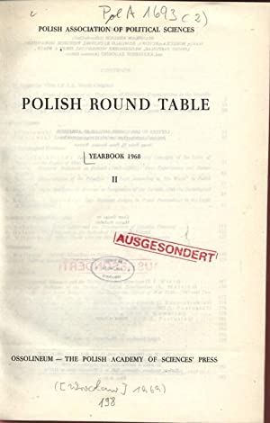 POLISH ROUND TABLE. YEARBOOK 1968, II. POLISH ASSOCIATION OF POLITICAL SCIENCES.