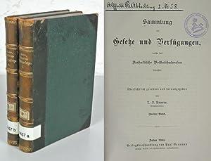 Sammlung der Gesetze und Verfügungen, welche das anhaltische Volksschulwesen betreffen. 2 B&...