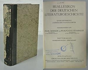 Reallexikon der deutschen Literaturgeschichte, 3. Band: Rahmenerzählung: Merker, Paul [hrsg.]