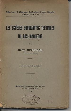 Les Especes Survivantes tertiaires du Bas-Languedoc. (Station Intern. de Geobotanique Mediteranee ...