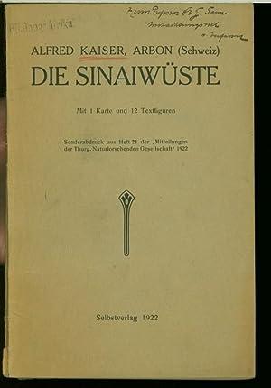 Die Sinaiwüste. SELTEN!! (Sonderabdruck aus Heft 24 der Mitteilungen der Thurgauischen ...