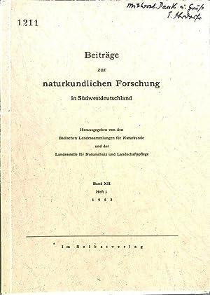 Beiträge zur naturkundlichen Forschung in Südwestdeutschland,: Oberdorfer, E.: