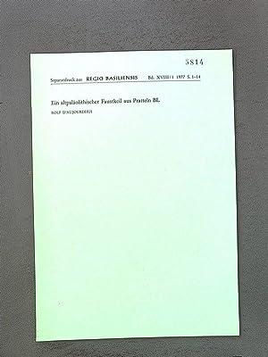 Ein altpaläolithischer Faustkeil aus Pratteln BL. (Separatdruck: Daujourdhui, Rolf: