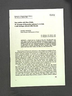 Note critiche sulla Flora d*Italia. IV. 11: Pignatti, S.: