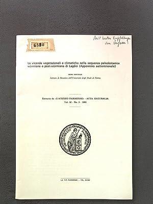 Le vicende vegetazionali e climatiche nella sequenza: Bertoldi, Remo: