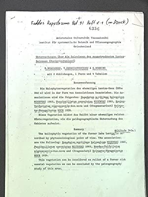 Untersuchungen über die Salzwiesen des ausgetrockne- ten: D., Babalonas: