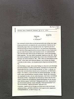 Vegetation Sep.-Druck: Mitteilgn.Dtsch.Bodenkundl.Gesellsch., 28. 41-53 (1979).: Oberdorfer, E.: