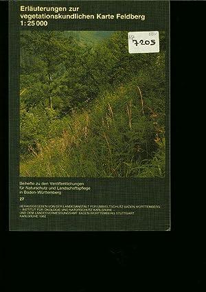 Erläuterungen zur vegetationskundlichen Karte Feldberg 1:25 000: Oberdorfer, E.: